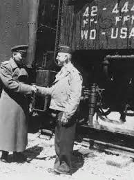 Прибытие первого ленд-лизовского железнодорожного эшелона на станцию Джульфа СССР 28 сентября 1941 г. с грузами из США и Канады
