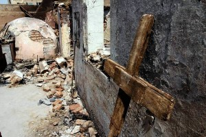 Damaged church in Egypt