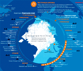 Природные ресурсы Арктики.  Инфографика РСМД