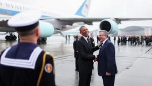Президент Польши Бронислав Комаровский и президент США Барак Обама