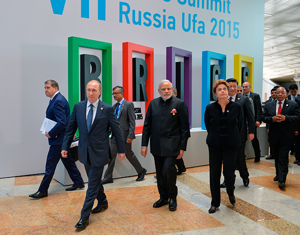 Перед саммитом БРИКС. Фото: Алексей Дружинин / AP