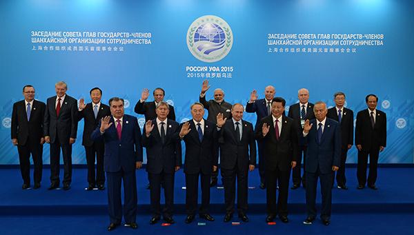 После заседания Совета глав государств-членов ШОС в расширенном составе с участием делегаций. Фото: AP