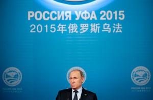 Владимир Путин во время речи на саммите ШОС. Фото: Иван Секретарев / AP