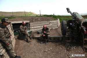 Soldiers of Martuni region in positions, Nagorno-Karabakh