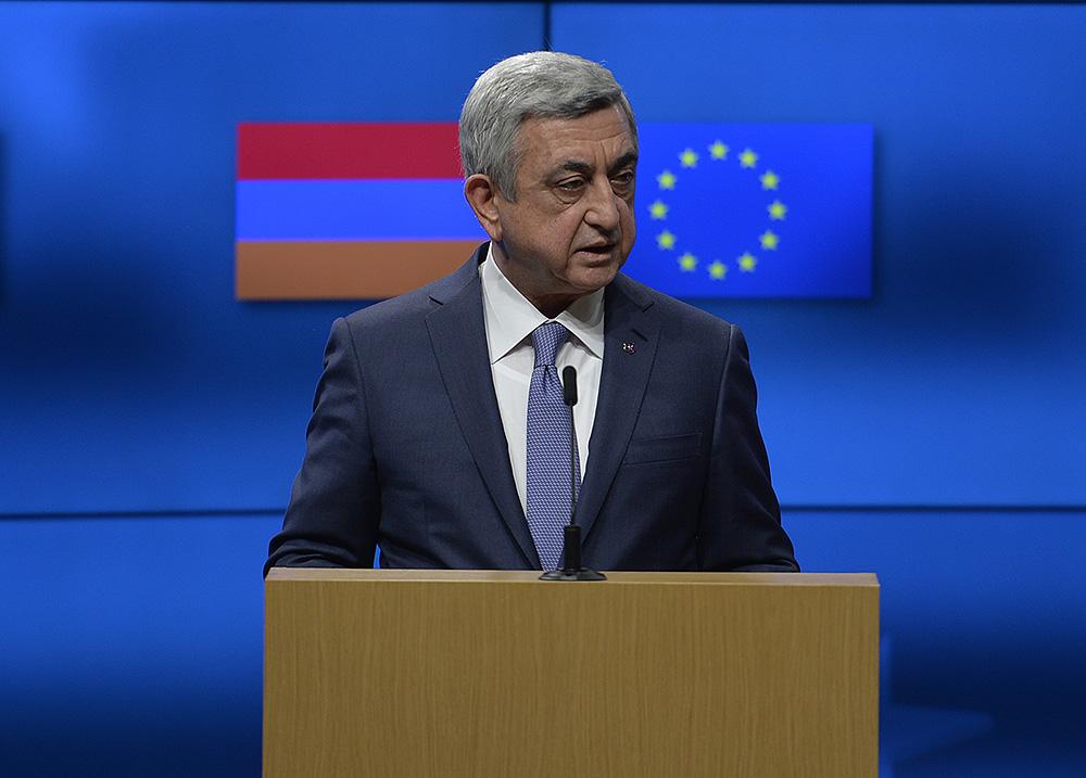 Выступление президента Армении С. Саргсяна от 27.02.2017 г.